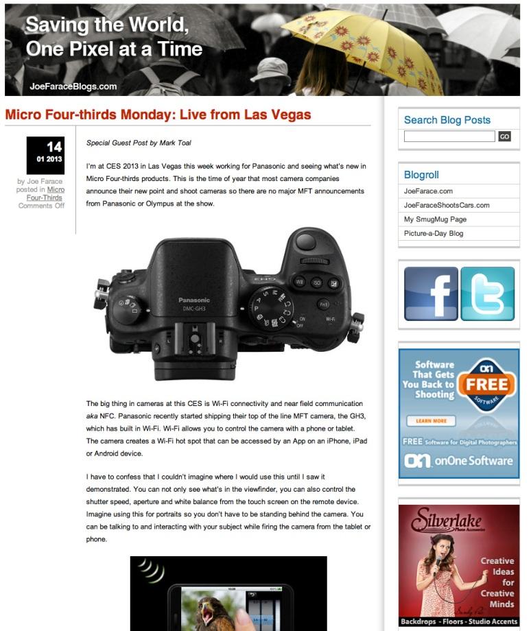 CES 2012 blog